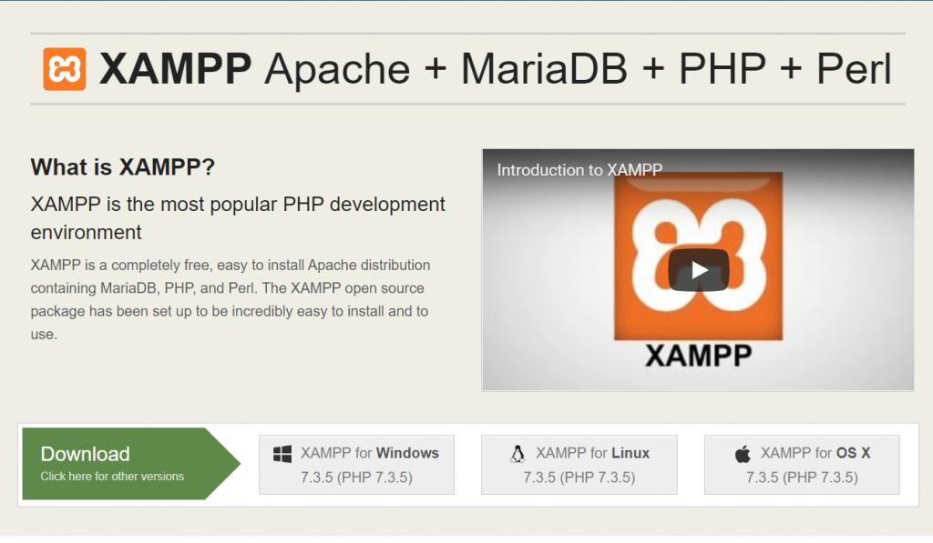 Download Xammp server